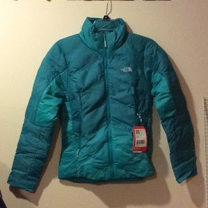 NWT women's fuse form dot matrix down jacket